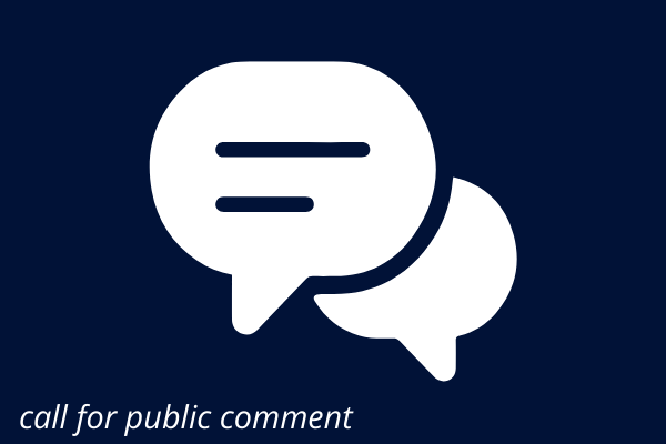 call for public comment