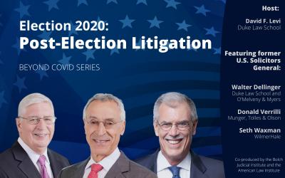 Election 2020: Post-Election Litigation